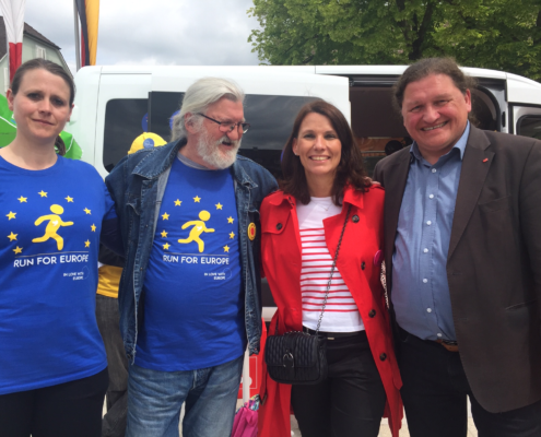 Beim Run for Europe in Breisach