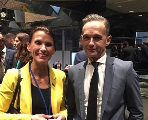 Rita-SchwarzelührSutter mit Außenminister Heiko Maas bei der UN in New York