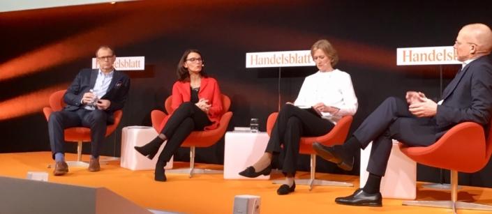 """Diskussionsrunde """"Klimaschutzprogramm 2030 – Lösung für Umwelt & Industrie?"""" auf dem Handelsblatt-Energiegipfel"""