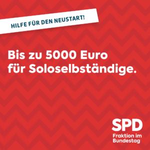 5000 Euro für Soloselbständige